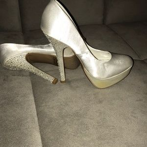 White studded wedding Shoes